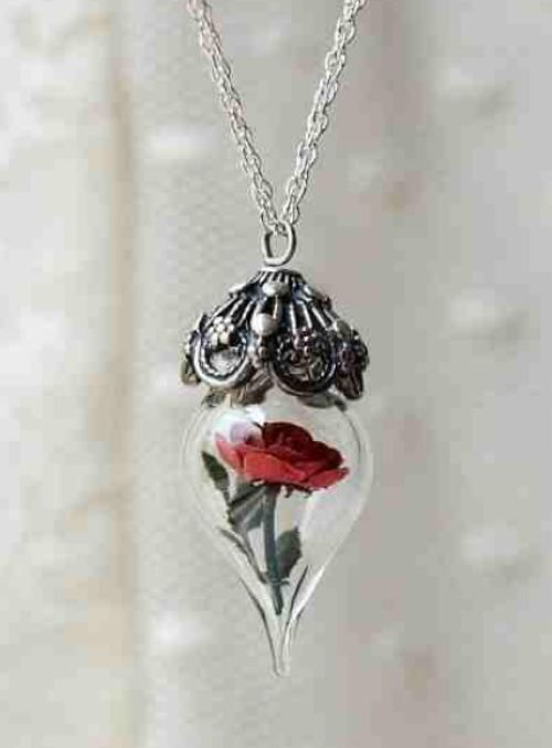 Rose necklace - just like Beauty and the Beast!