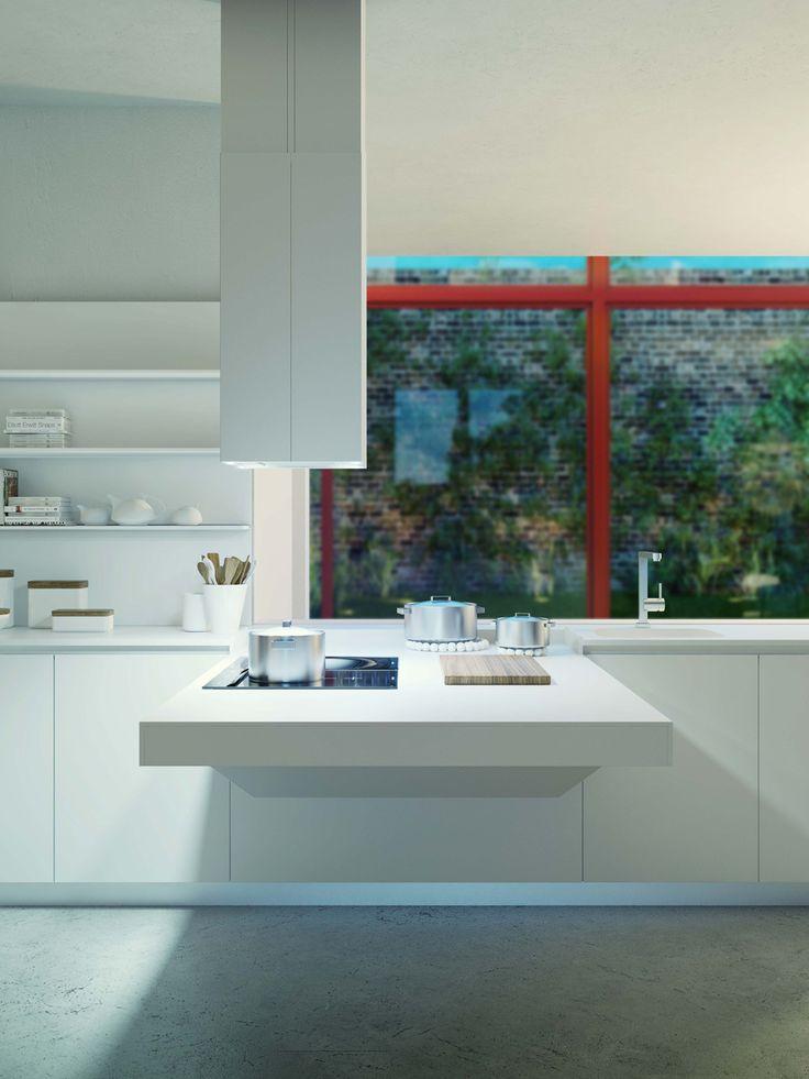 CUCINA A SCOMPARSA SOSPESA BOARD BY @Snaidero Cucine | DESIGN PIETRO AROSIO DESIGN #kitchen design #interiors #minimal