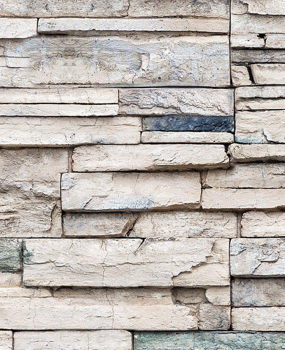 Faux Stone Peel Stick Fabric Wallpaper Repositionable Etsy Faux Stone Wallpaper Stone Wallpaper Faux Stone