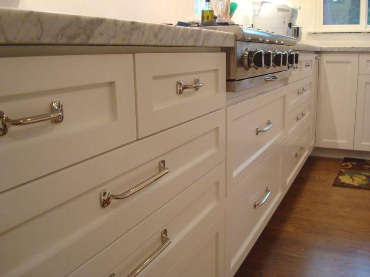 Restoration hardware aubrey pulls bathroom ideas pinterest shaker style style and cabinets - Shaker kitchen cabinet hardware ...