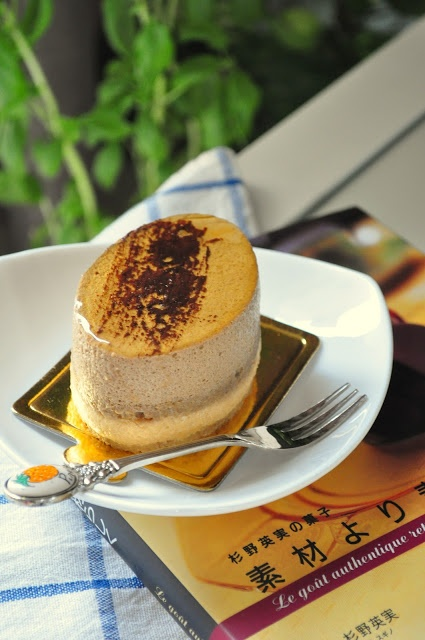 PASTELITOS DE MOUSSE DE CAFE Y CARAMELO (Coffee & caramel mousse cake)