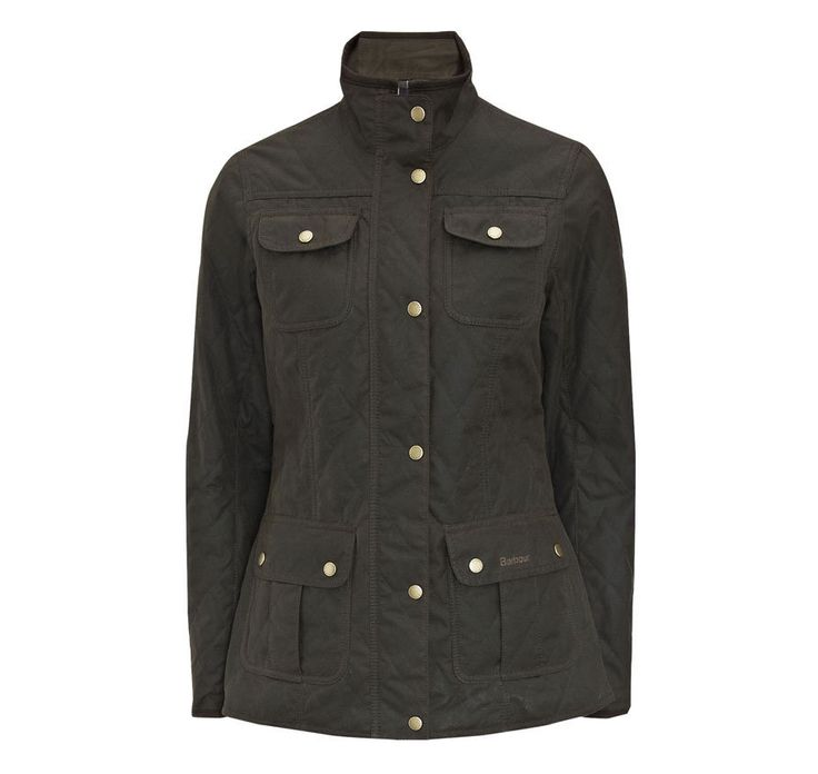 Barbour Women's Quilted Utility Waxed Jacket