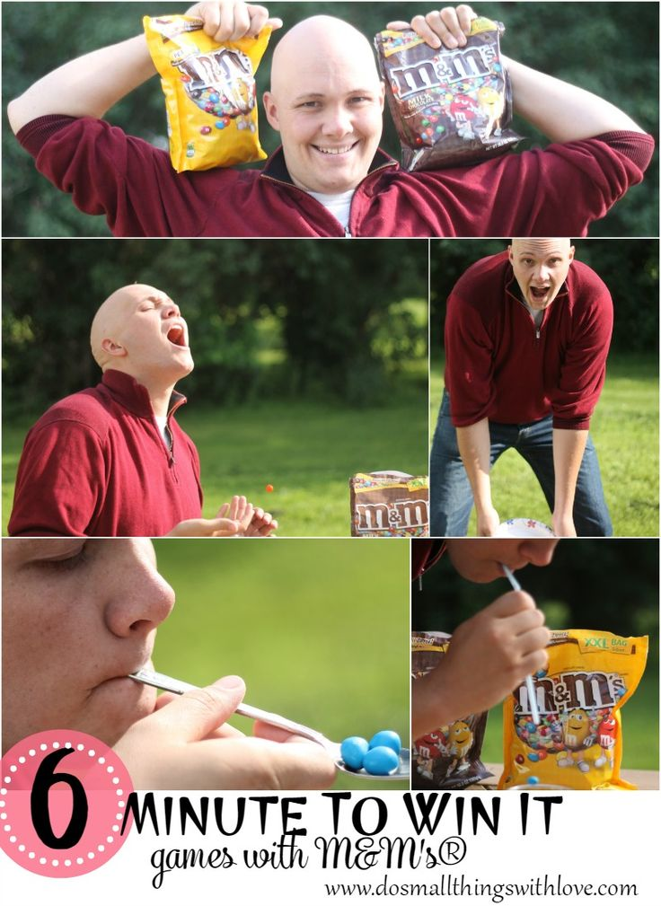 6 Minute to Win It Games with M&M's® AD #ShareFunshine