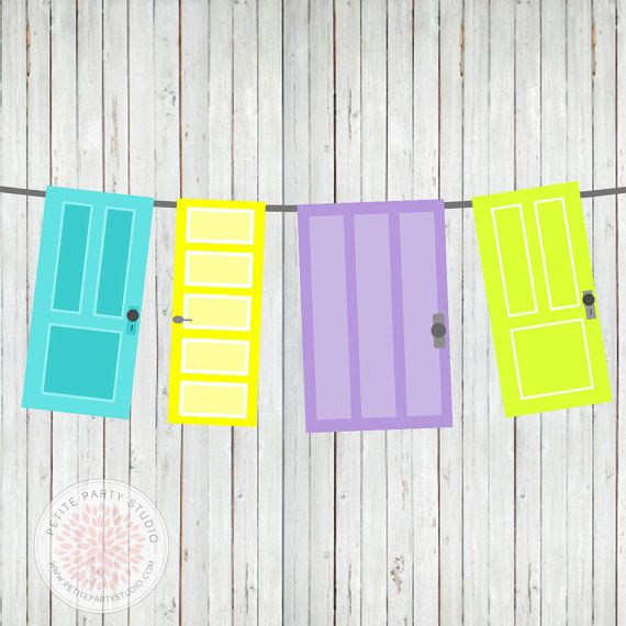 INSTANT DOWNLOAD Printable Door Banner - Monsters Inc University  - Petite Party Studio on Etsy, $6.00