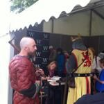 Robyn Young signing books at Bannockburn Live 2014