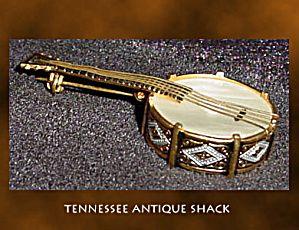 Banjo Brooch PinBrooch Pin, Brooches Pin, Banjos Brooches, European Banjos, Banjos Appearances, Miniatures Banjos, Banjos Pin, Pin Brooches