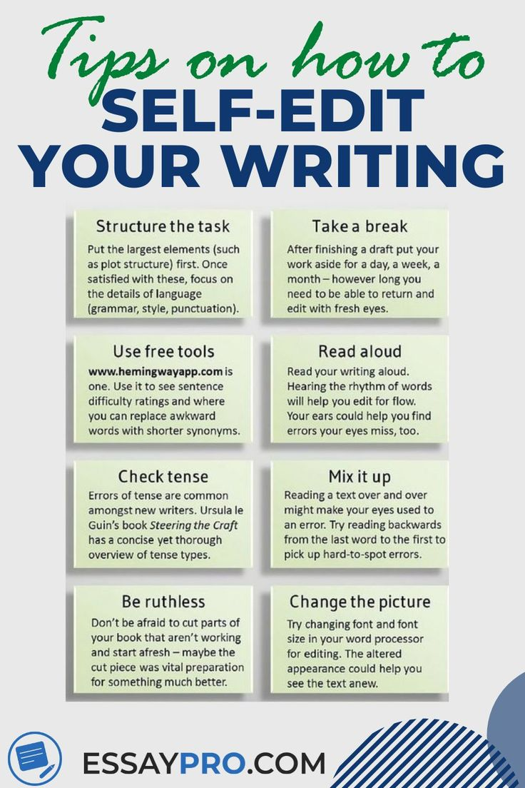 How To Self Edit Your Essay Essay Writing Skills Academic Essay Writing College Writing
