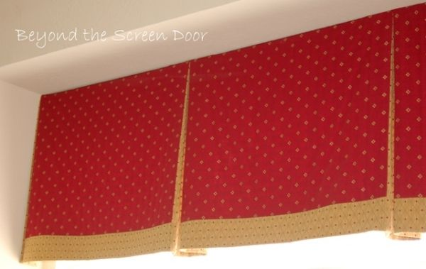 Box Pleated Board Mounted Valance Curtains And Drapes