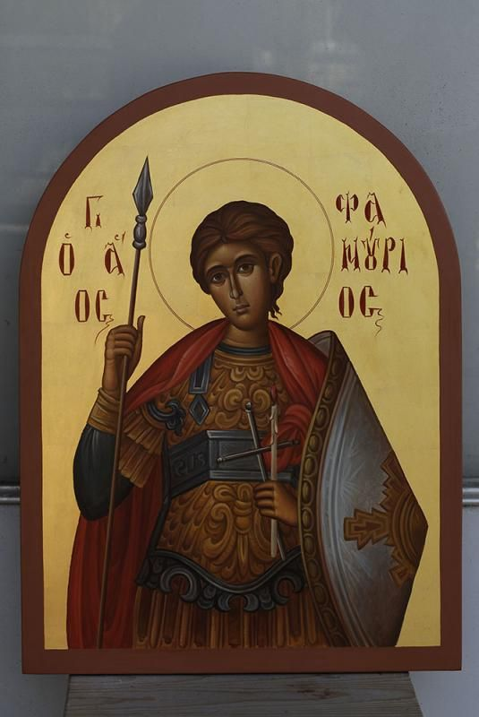 St Phanourios icon.  Ο Άγιος Φανούριος