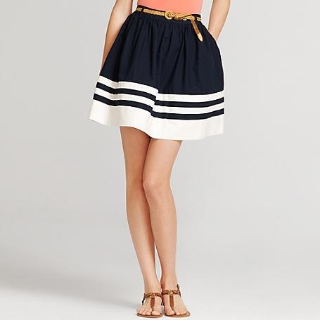 preppy poplin skirt