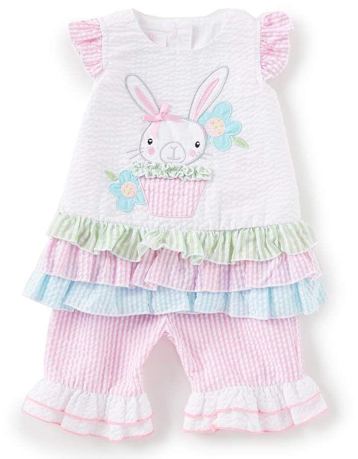 98e463484 Bonnie Jean Bonnie Baby Baby Girls Newborn-24 Months Easter Bunny Cupcake  Applique A-Line Dress & Pant Set #ad
