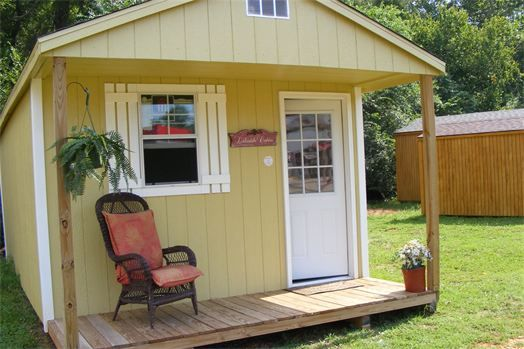 Showcase Sheds Tiny House - The Dara is a 200 square foot, plus sleeping loft, tiny house on skids.