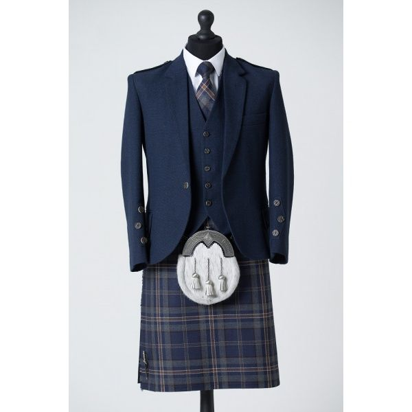 Arran Navy Tweed Mannequin