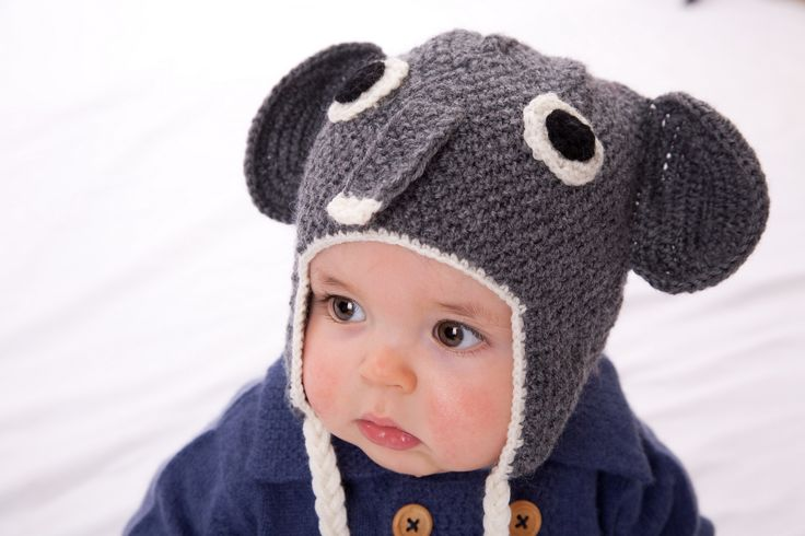 sigh....elephant beanie in a lovely moss stich, too cute...childrens hats acorn kids melbourne australia