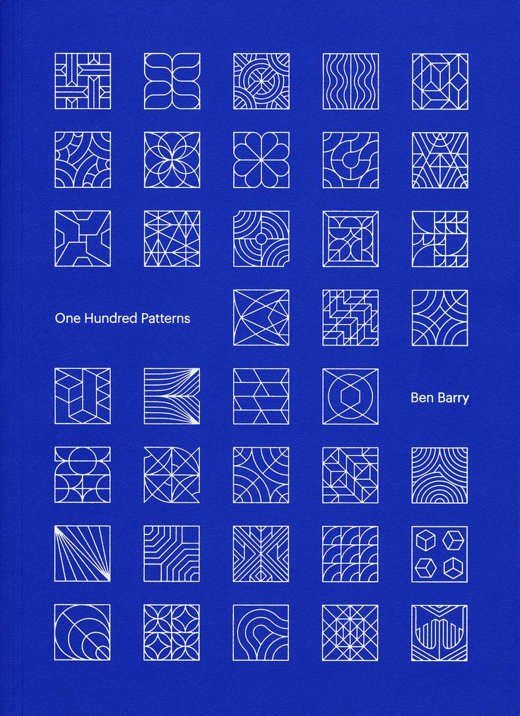 Ben Barry, One Hundred Patterns, Particular Intent, 2015. Design by Jessica…