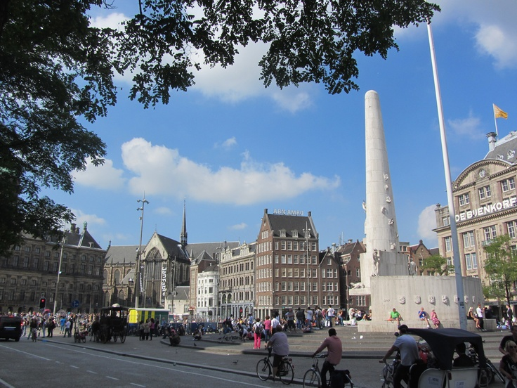 The heart of Amsterdam - Dam Square! (Photo by AmsterdamTravelGuide.com)