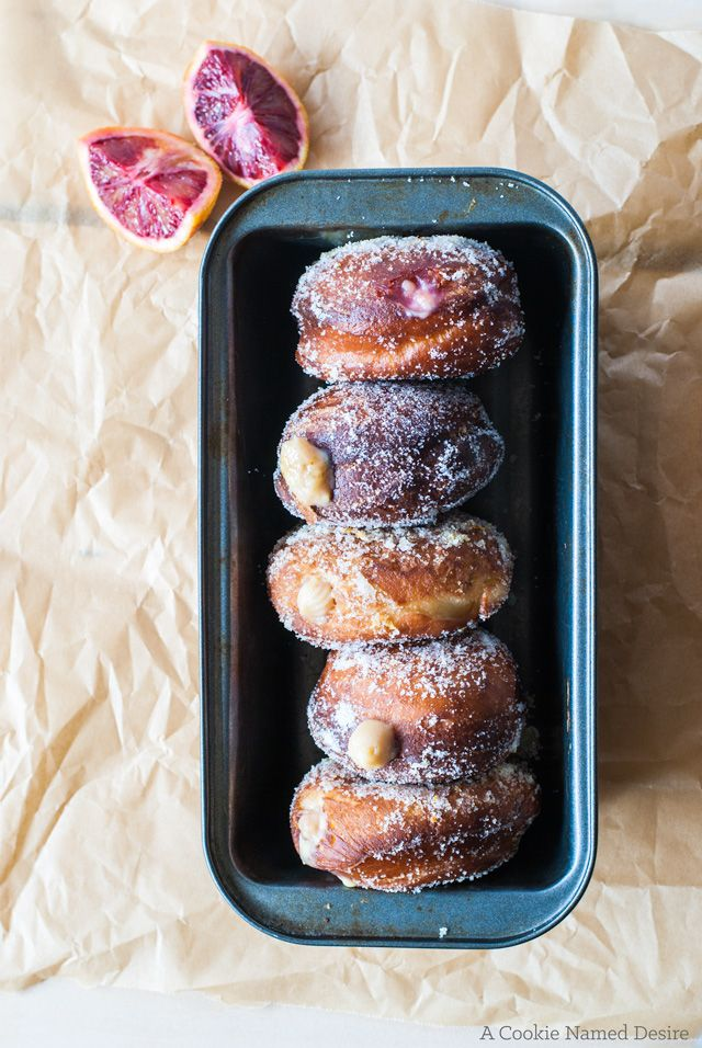 Blood Orange Cream-Filled Doughnuts @cookiedesire
