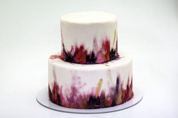 hand painted fondant cake
