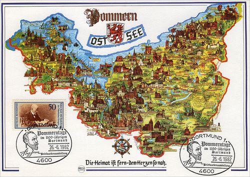 1982 Pommern Pommerntage im 1100-jährigen Dortmund Heinrich von Stephan Pomorze