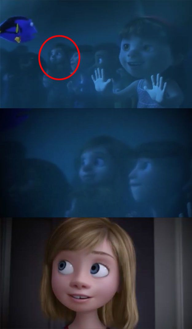 """There are new Easter eggs like Inside Out's Riley making a quick cameo in Finding Dory… 