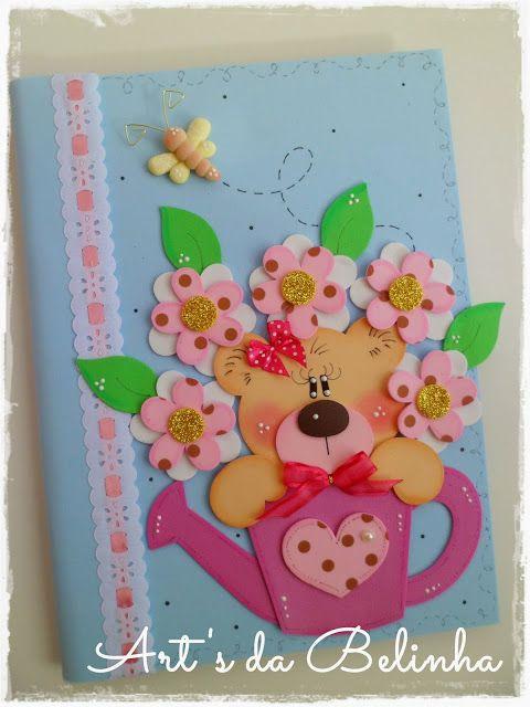 Caderno de Ursinha de EVA http://garotacriatividade.com