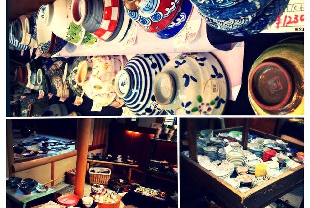 2nd Floor Pottery Shop on Komachi-Dori, Kamakura, Japan