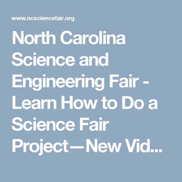 North Carolina Science and Engineering Fair - Learn How to Do a Science Fair Project—New Video Series from NASA JPL