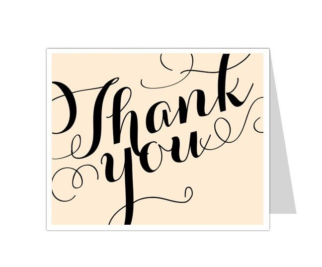 Best Thank You Card Templates Images On   Card