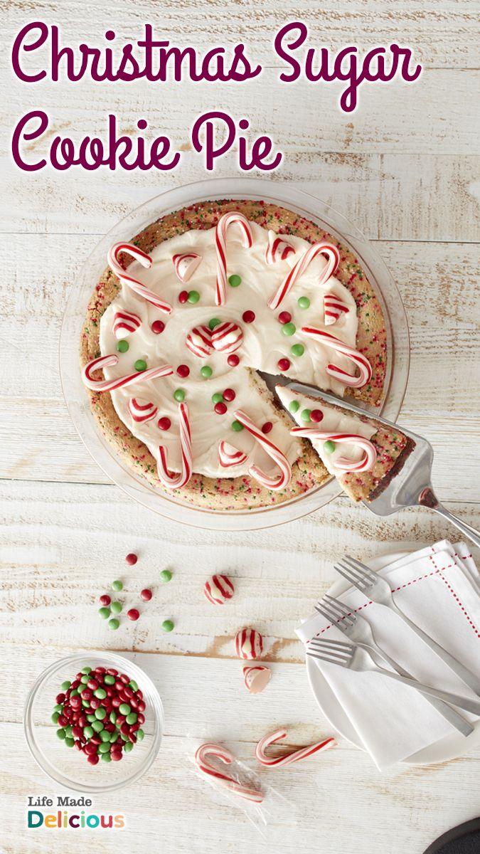 Christmas Sugar Cookie Pie