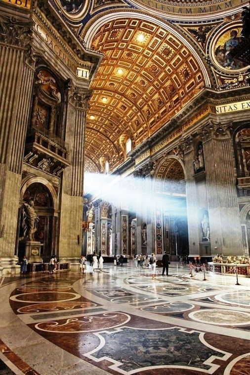 St. Peters Cathedral in Rome, Italy