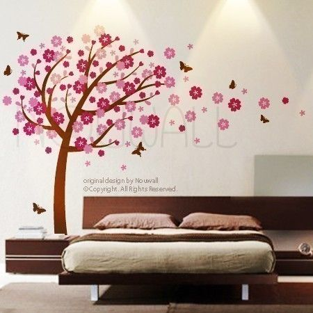 Wall sticker wall decal Windy Flowery Tree with by NouWall on Etsy, $85.00