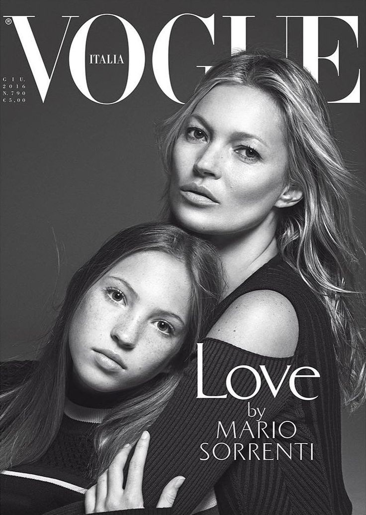 Kate Moss & Lila Grace Moss Hack by Mario Sorrenti for Vogue Italia June 2016 #fashioncover