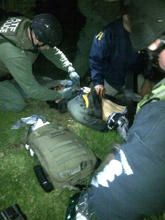Arrest of Boston Marathon bombing suspect Dzhokhar Tsarnaev - The Weird Picture Archive