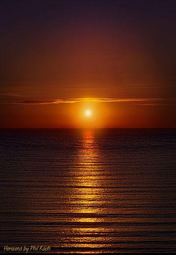 Red Sunrise in Morning
