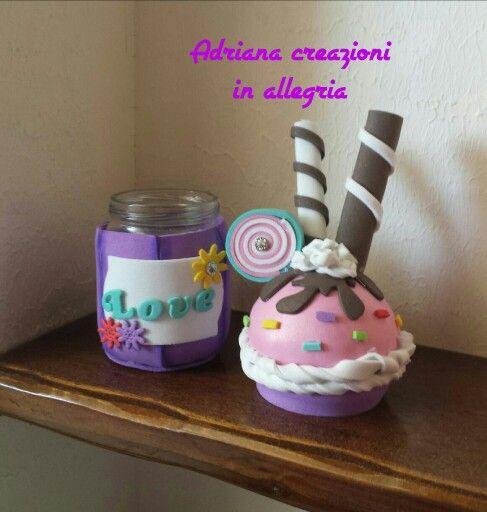 Barattolo cupcake gomma crepla