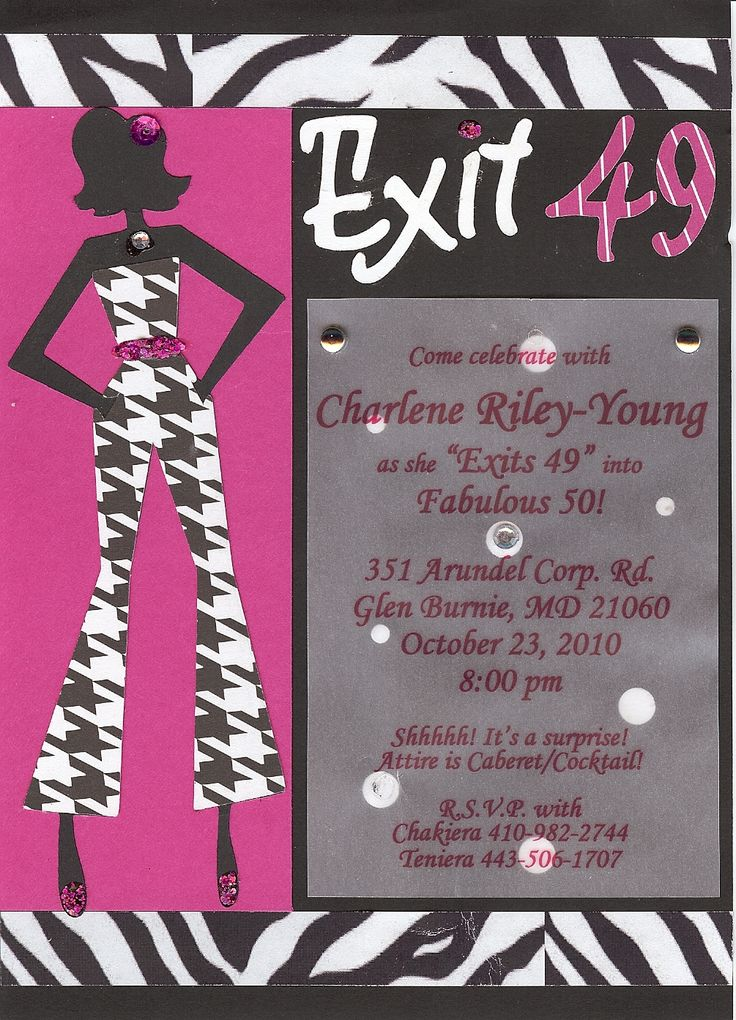 50th Birthday Party Invite for a fiesty Lady
