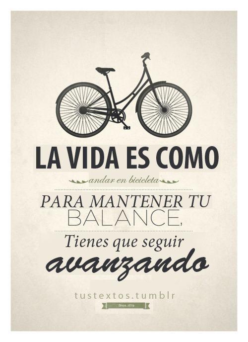 Bicicleta y la vida