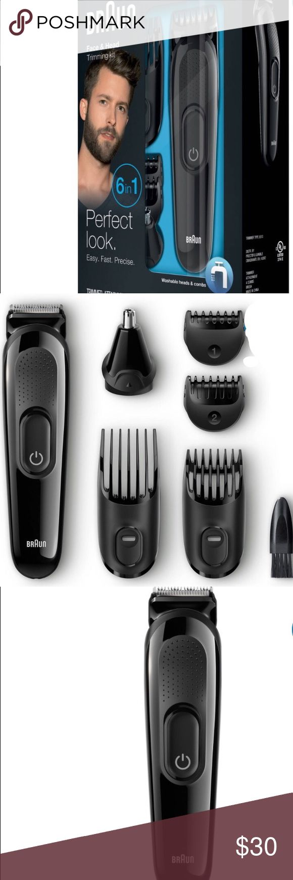 Braun MGK3020 6-in-1 Face/Hair Trimmer, 7 pc Kit: 4 combs covering 13 precision length settings from 0.5-21mm. An ear & nose trimmer attachment is also included. Lifetime lasting power - 40 minutes of precision trimming from a 10 hour charge. Ultimate precision w/ lifetime lasting sharp blades. Fully washable head and comb for easy cleaning under running water. Worlds# 1 Foil Shaver Brand Based on global Braun value share in electric foil shaver market. 6 different jobs effortlessly and stay…