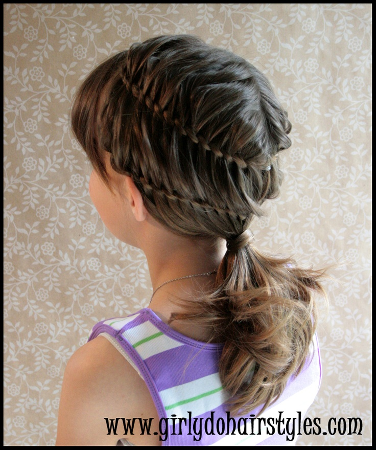 586 best girly do hairstyles images on pinterest hair treatments double twist to a low ponytail from girly do hairstyles urmus Images