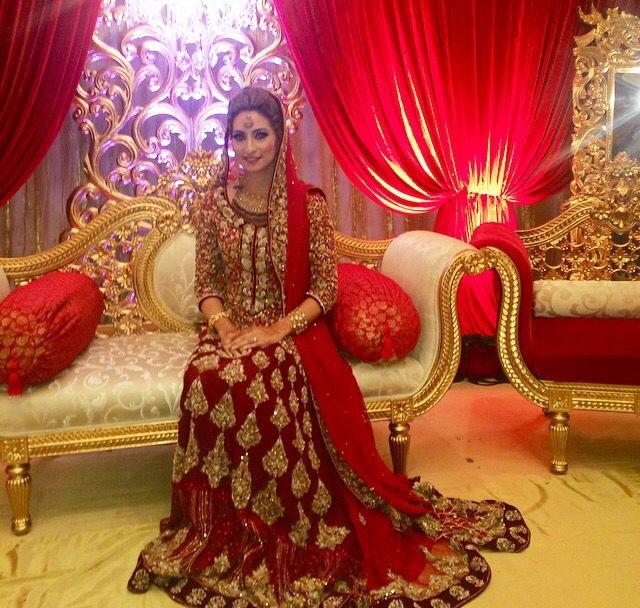 Pakistani bride. Beautiful dress!!