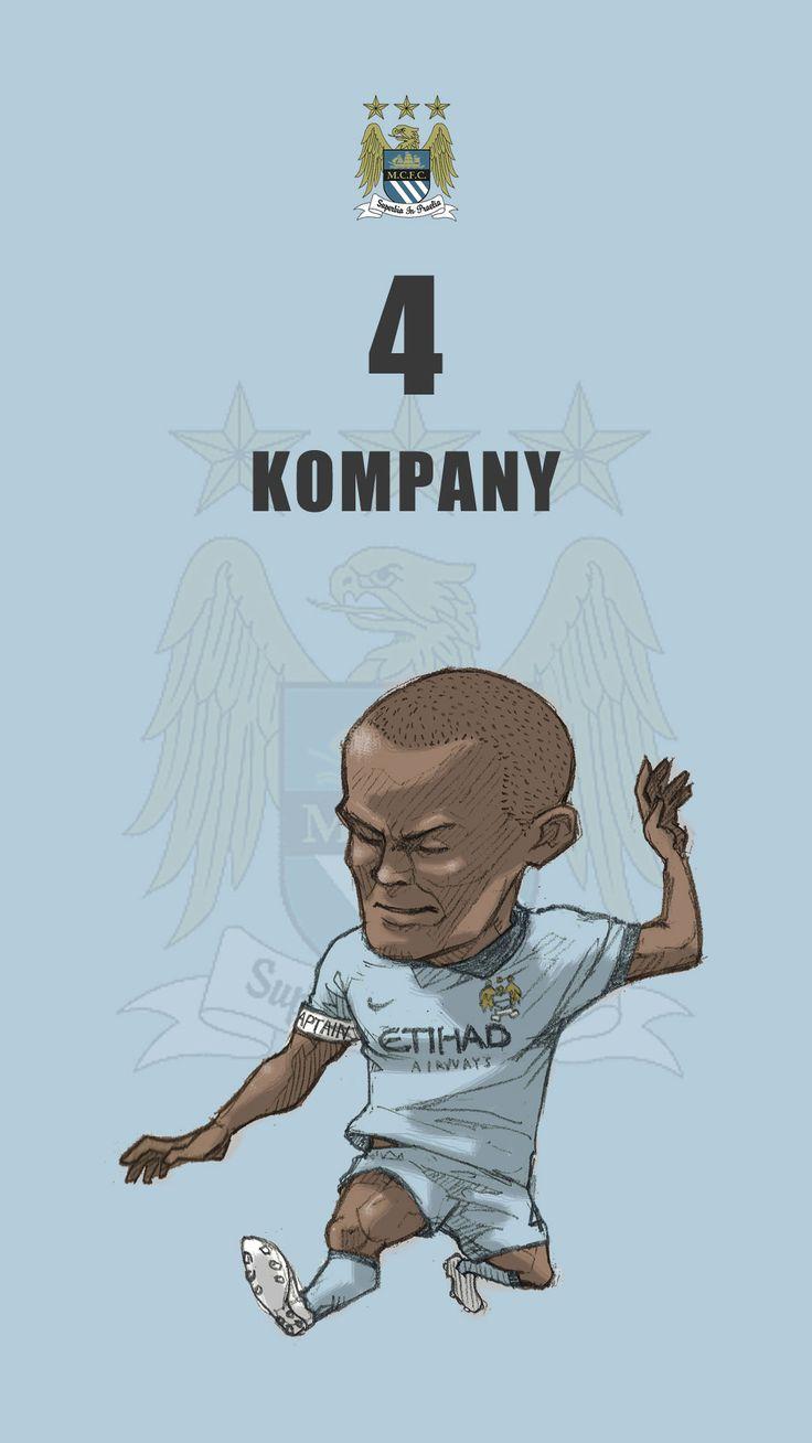 "Manchester city fan art for mobile wallpaper ""Vincent Kompany"""