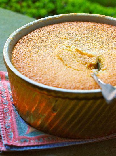 baked lemon pudding.
