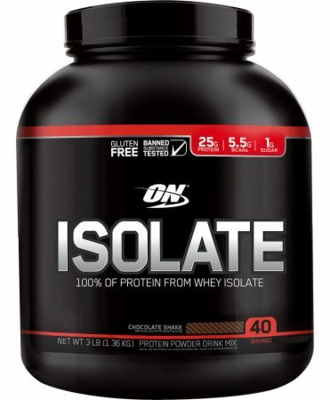 Optimum Nutrition Isolate Chocolate Shake 3 Lbs. OPT4210053 Chocolate Shake - 100% Of The Protein From Whey Isolate