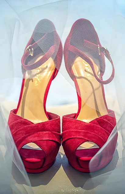 A pair of red Charles & Keith heels are the perfect accessory.
