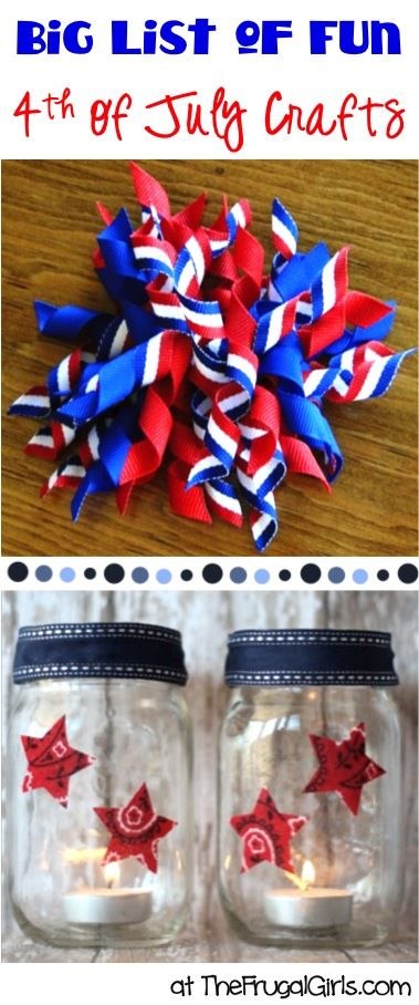 BIG List of 4th of July Crafts! ~ from TheFrugalGirls.com ~ get inspired with all sorts of fun patriotic craft ideas! #thefrugalgirls