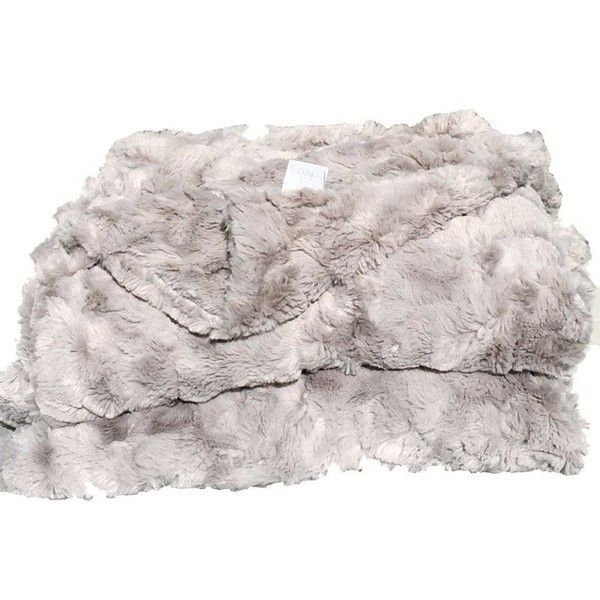 Lux Faux Fur Throw Blanket, Gray - Scandinavian - Throws - by Belle... ❤ liked on Polyvore featuring home, bed & bath, bedding, blankets, grey throw, faux fur blanket throw, gray faux fur blanket, grey bedding and gray throw blanket