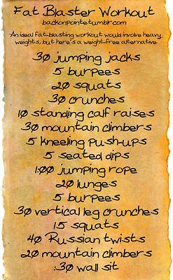 Fat burn workout
