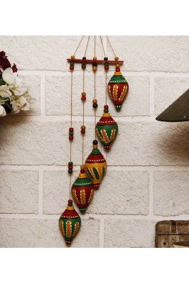 Buy Terracotta Shankh Wind Chime Online India | TrendyBharat.com | DEWD0130