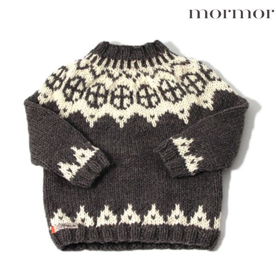 mormor.nu Sweater Palle grey brown charcoal blue. High quality knitwear for children. Danish design made in Denmark #babyclothing #kidsclothing #warmclothes #softknit #highlandwool