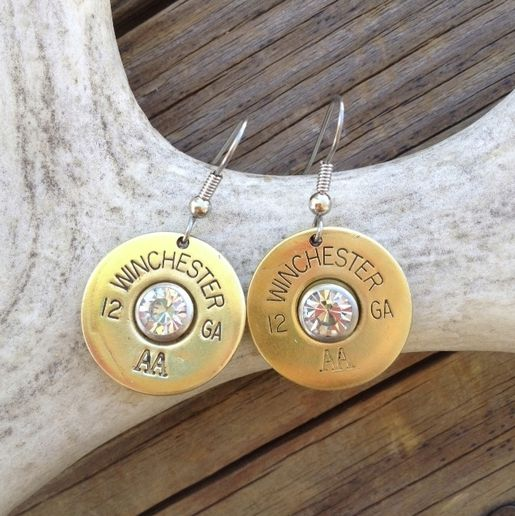 12 Gauge Shot Gun Shell Earrings. Perfect gift for Christmas! http://www.countryoutfitter.com/products/82860/?lhb=style